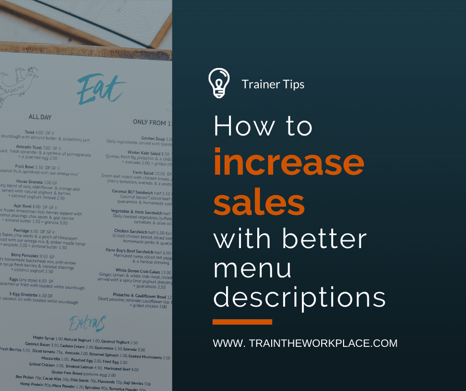 Trainer Tip How to increase sales through better menu descriptions