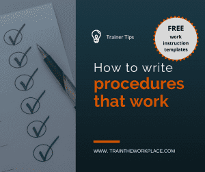 Trainer Tip How To Write Procedures That Work Free